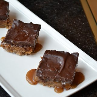 Chocolate Caramel Espresso Bars