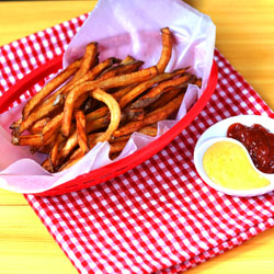 Twice Fried French Fries with Smoked Cheddar Sauce
