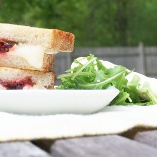 Grilled Brie & Red Pepper Jalapeno Jelly