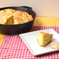 Skillet Corn Bread with Maple butter