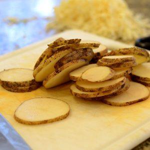 Potatoes sliced 500