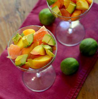 Avocado Fruit Salad for #TheSaladBar