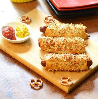 Pretzel Crusted Hot Dogs