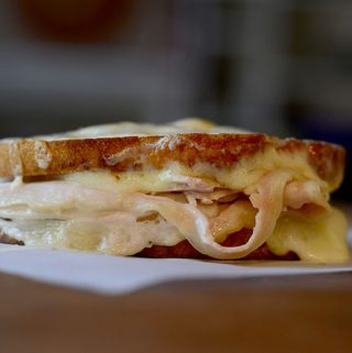 Double Grilled Cheese Turkey Sandwich