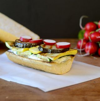 Grilled Veggie Sandwich with Tzatziki Sauce
