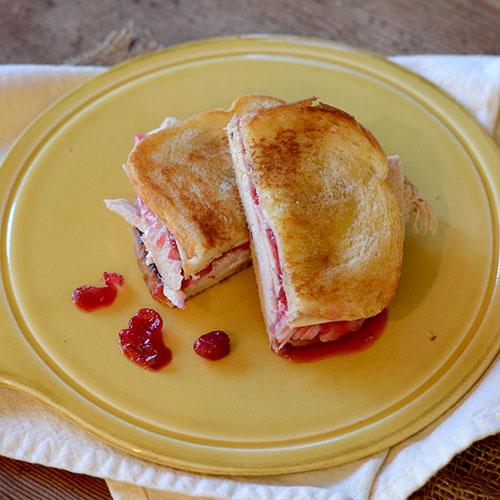 turkey, cranberry, grilled, sandwich, cheese
