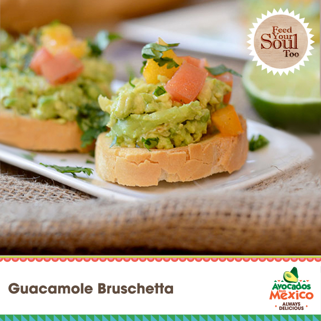 Guacamole Bruschetta - Feed Your Soul Too