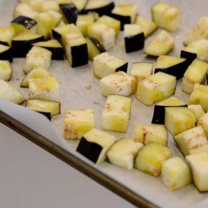 Eggplant cubed 500