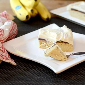 """Banana Fudge Layer Cake  #cake #bananas #fudge / feedyoursoul2.com"""