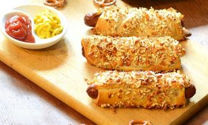 Pretzel Crusted Dog