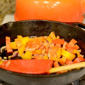 Veggies in skillet 500