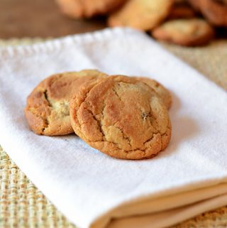 Vanilla Peanut Butter Chocolate Chip Cookies