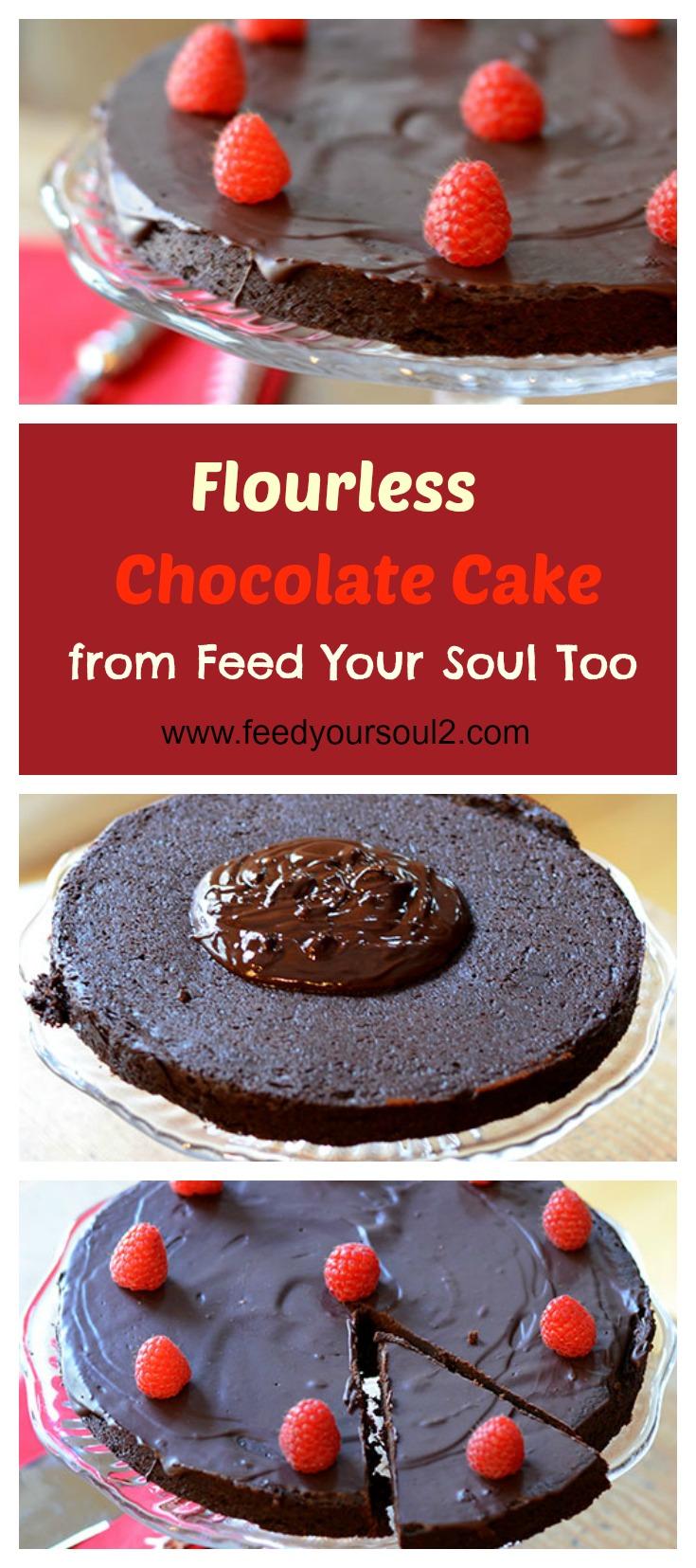 "Flourless Chocolate Cake #dessert #chocolate #glutenfree | feedyoursoul2.com"""