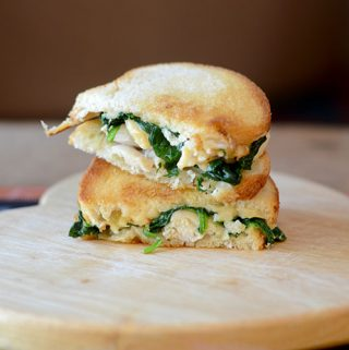 Grilled Turkey Cheese Spinach Sandwich