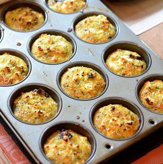 Quinoa Muffins with Zucchini & Mushrooms