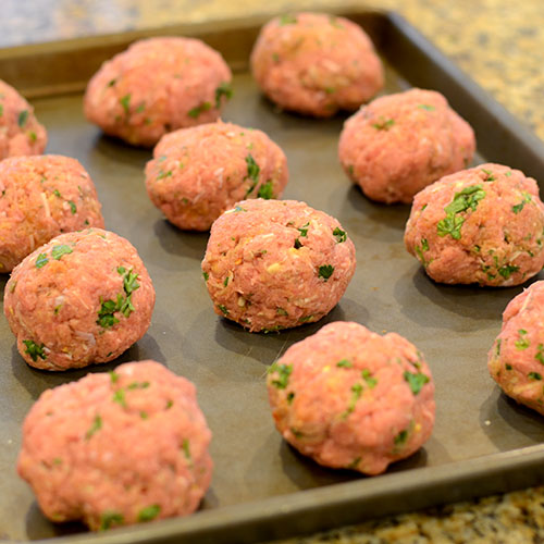 Rolled meat balls 500