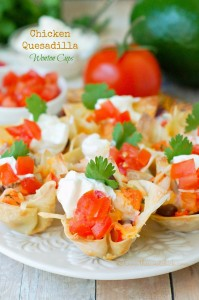 Chicken-Quesadilla-Wonton-Cups