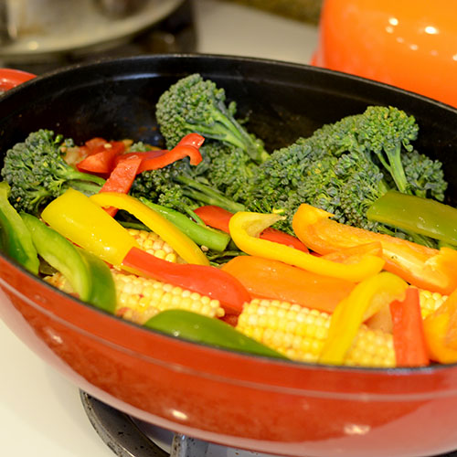 Broccolini & peppers 500