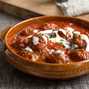 Saucy Greek Meatballs