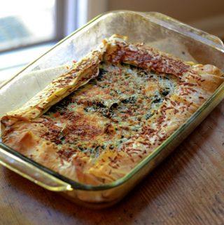 Spinach & Feta Phyllo Tart