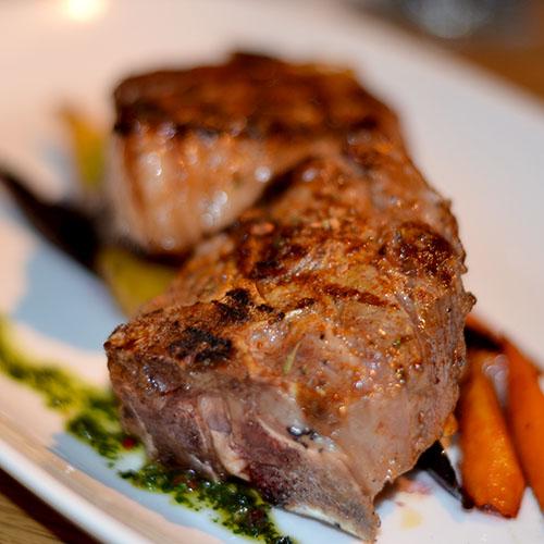 Lamb chops, grilled