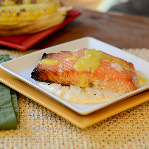 Maple glazed salmon feed your soul too for Dirk s fish gourmet shop