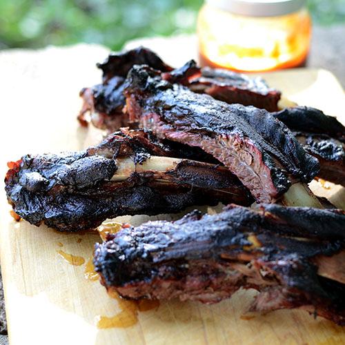 Smoked Beef Ribs #BBQ #dinner #smoker #Memorialday | feedyoursoul2.com