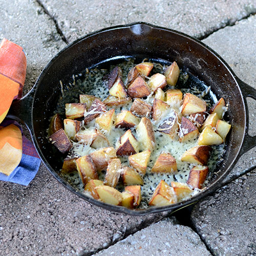 Top down Parmesan Potatoes