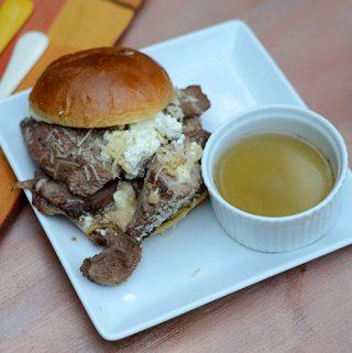 Lamb Philly Cheesesteak