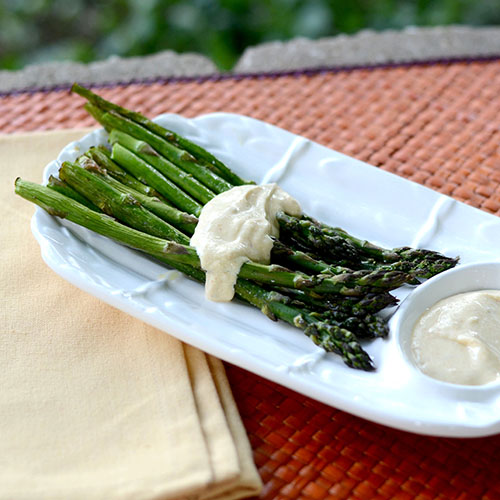 asparagus, sauce, fat-free, lowcal, Greek yogurt