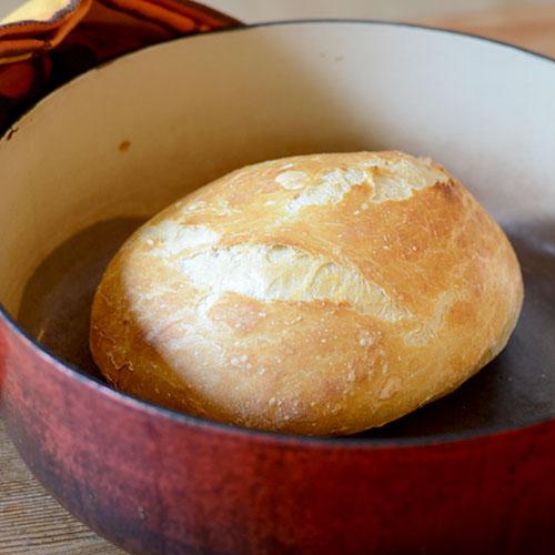 Dough After baking, flour, yeast, salt, water