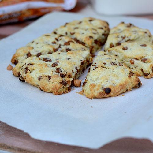 Cinnamon, Butterscotch, Chip, Scones, dough, butter