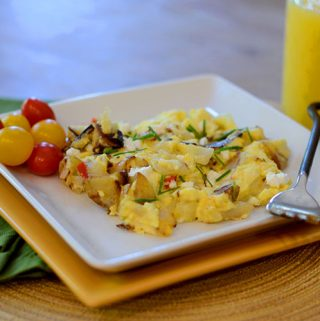 Goat Cheese Scrambled Eggs