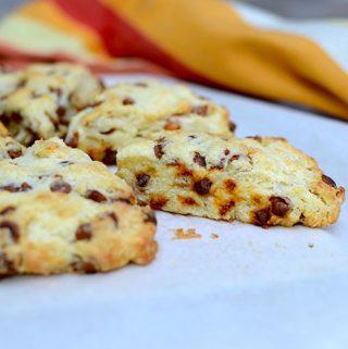 Cinnamon & Butterscotch Chip Scones