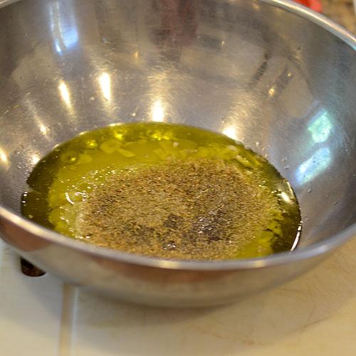 Marinade, olive oil, lemon juice, oregano
