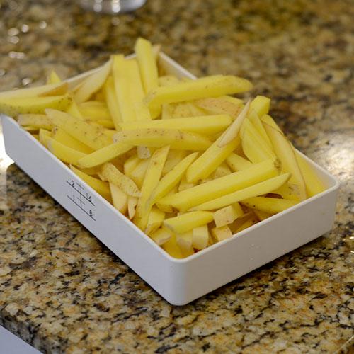 Sliced fries