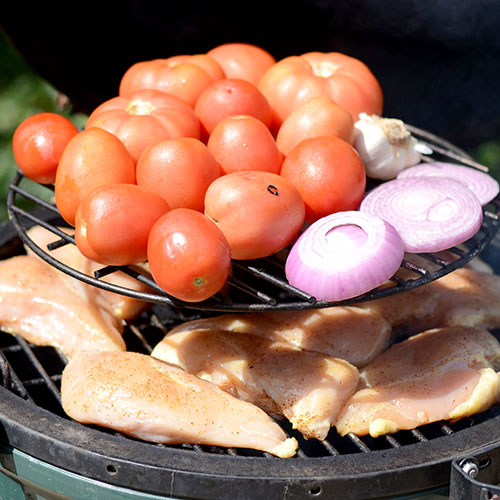 vegetables on smoker