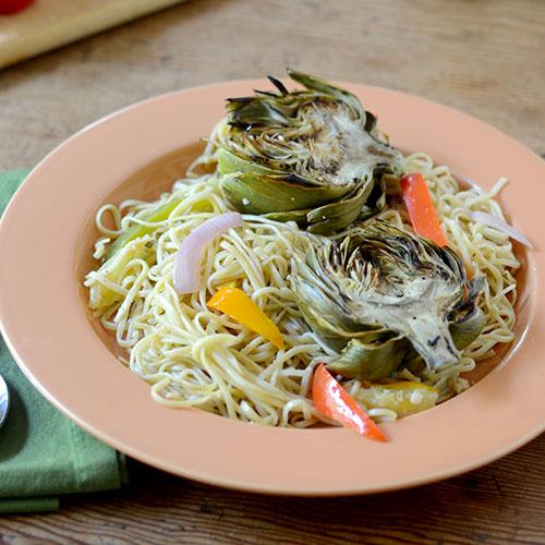"""""""Spaghetti Artichoke Pasta  #Spaghetti #artichoke #pasta / feedyoursoul2.com"""""""