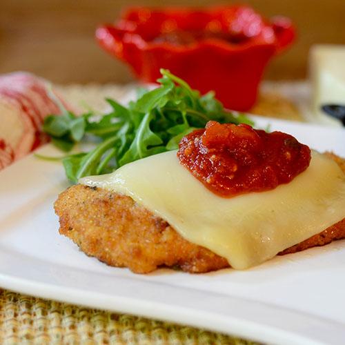 Italian, chicken, milanese, tomato, sauce, mozzarella, cheese, breading, saute
