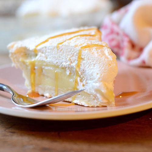 custard, crust, dough, whipped cream, caramel, flour, cornstarch, vanilla, eggs