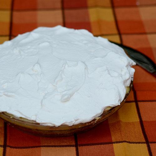 Whipped Cream, custard, crust