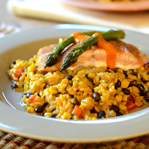 Mexican Risotto #Italianfood #Fusion #rrisotto | feedyoursoul2.com