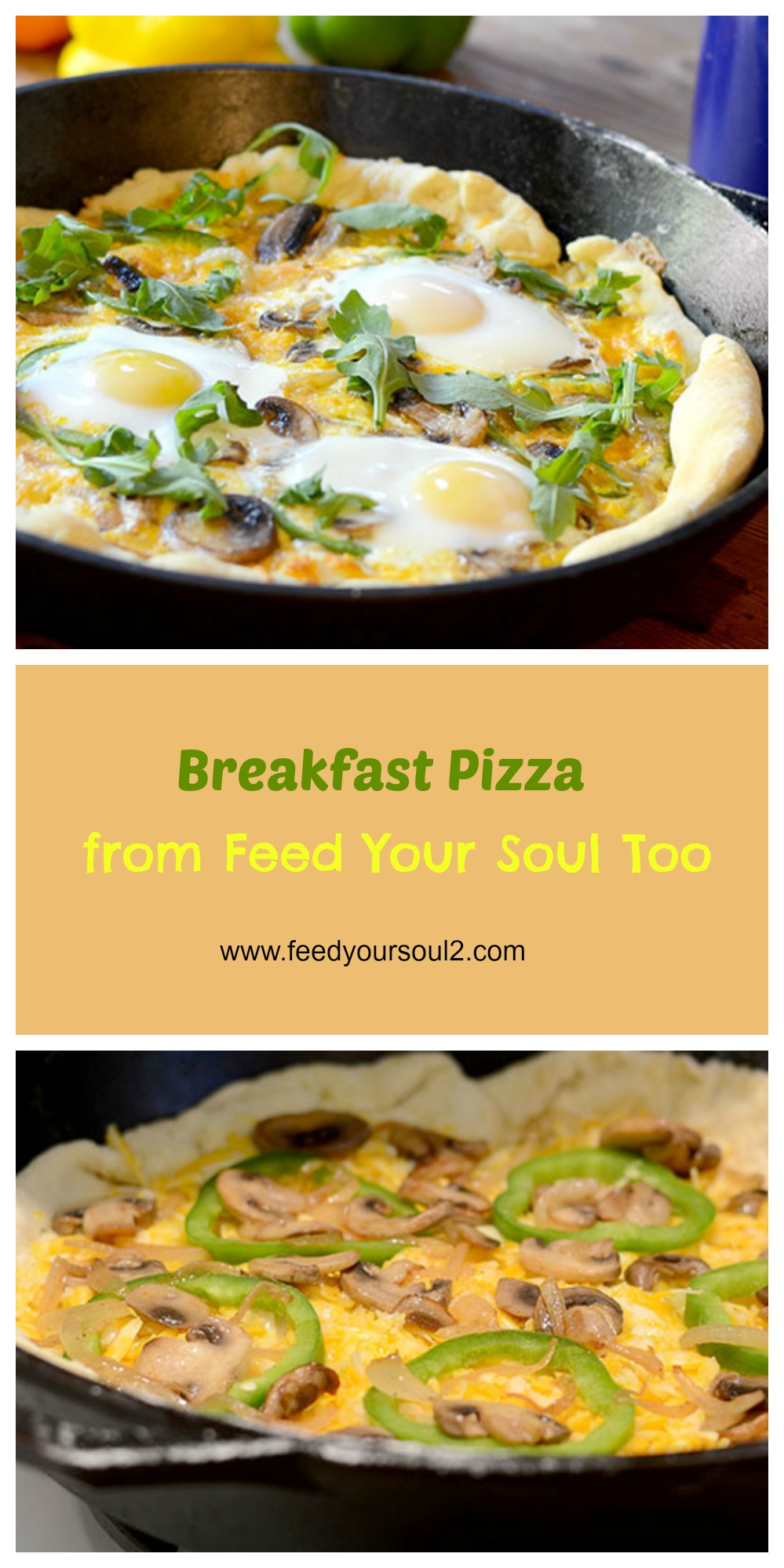 Breakfast Pizza #breakfast #pizza #vegetarian | feedyoursoul2.com