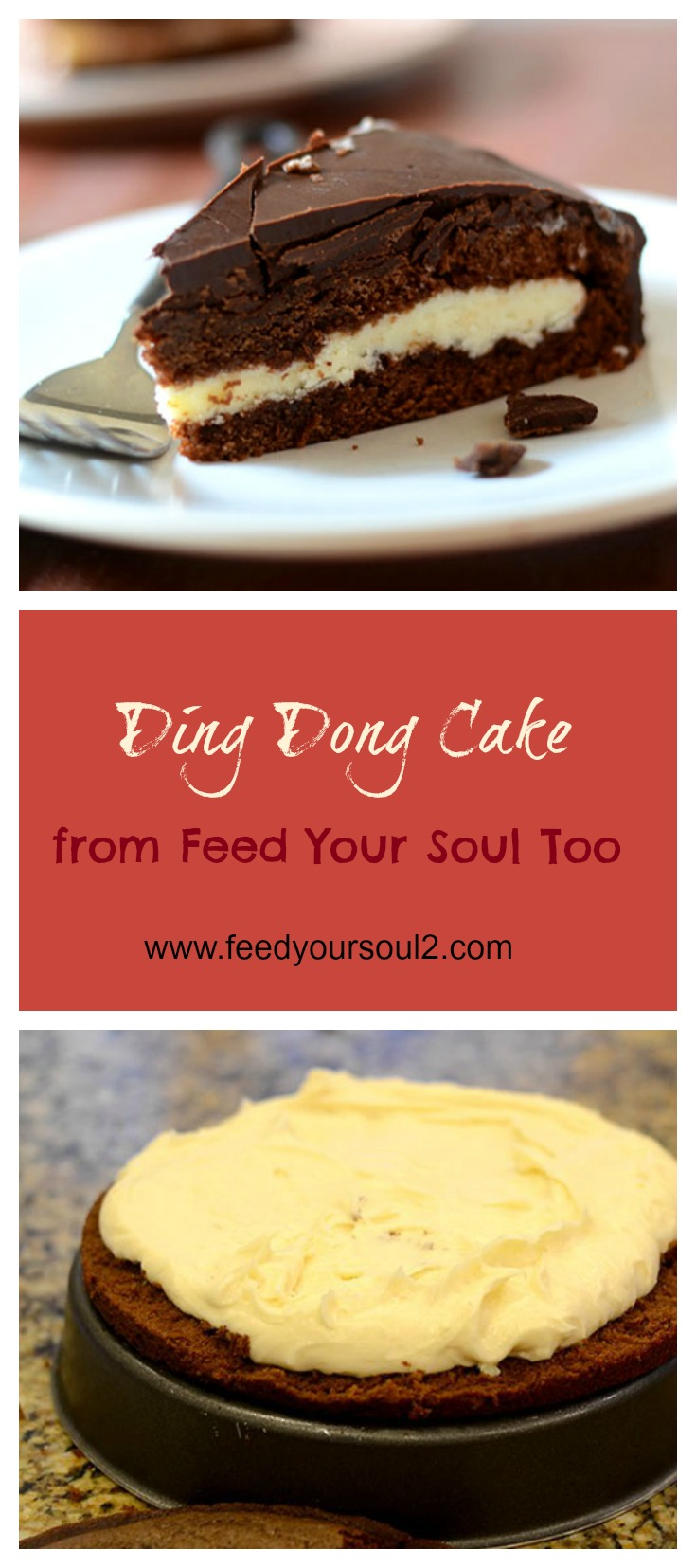 Ding Dong Cake #dessert #chocolate #childhoodclassic | feedyoursoul2.com