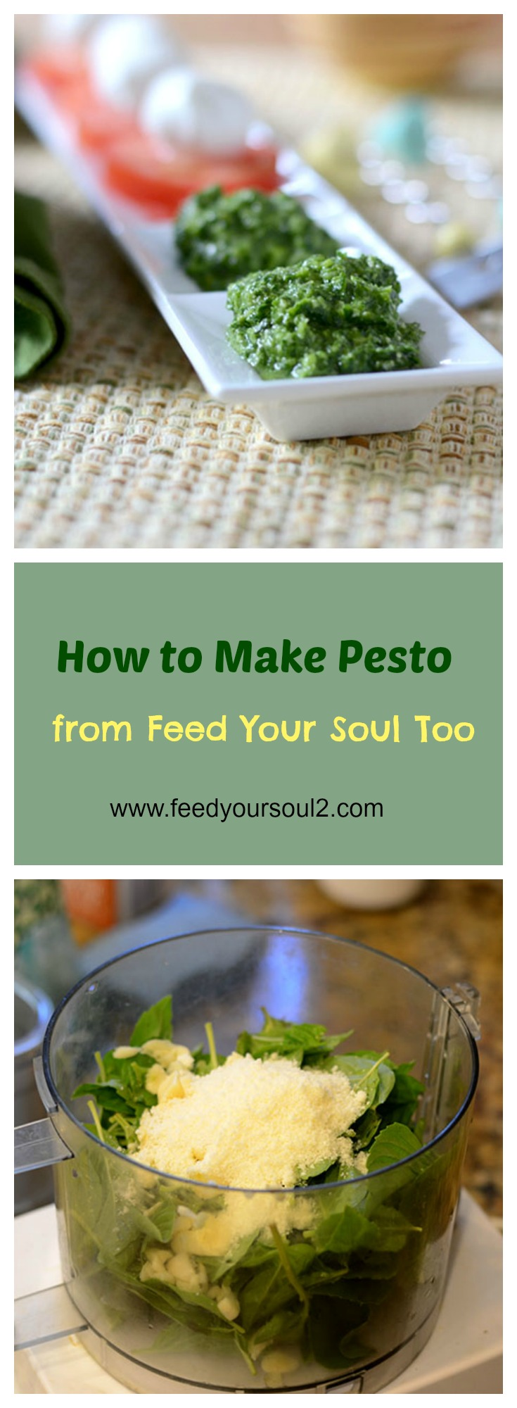 How to Make Pesto #pesto #lvegetarian #howto | feedyoursoul2.com