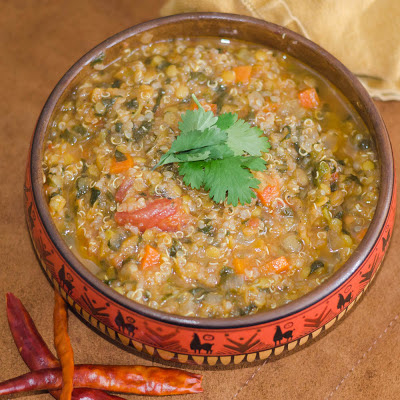 Red Lentil and Quinoa Soup, Friday Five