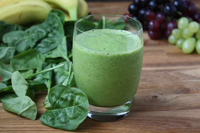 Spinach green Grape Smoothie