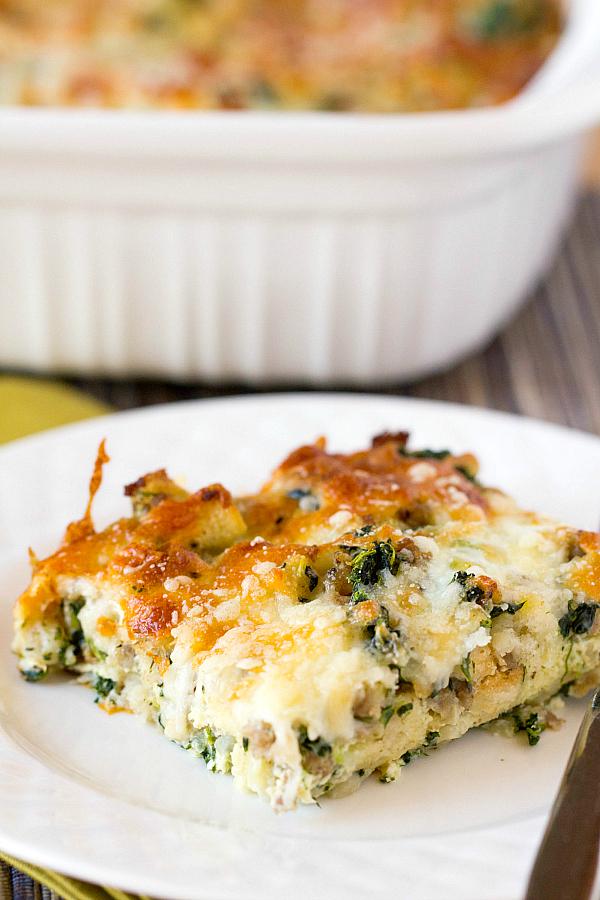 sausage-spinach-bake