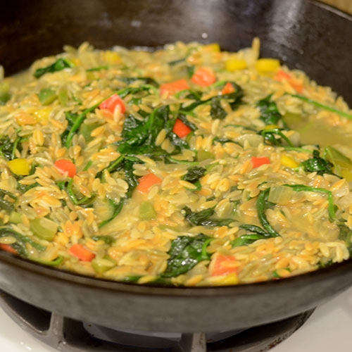 Spinach and vegetables added back in