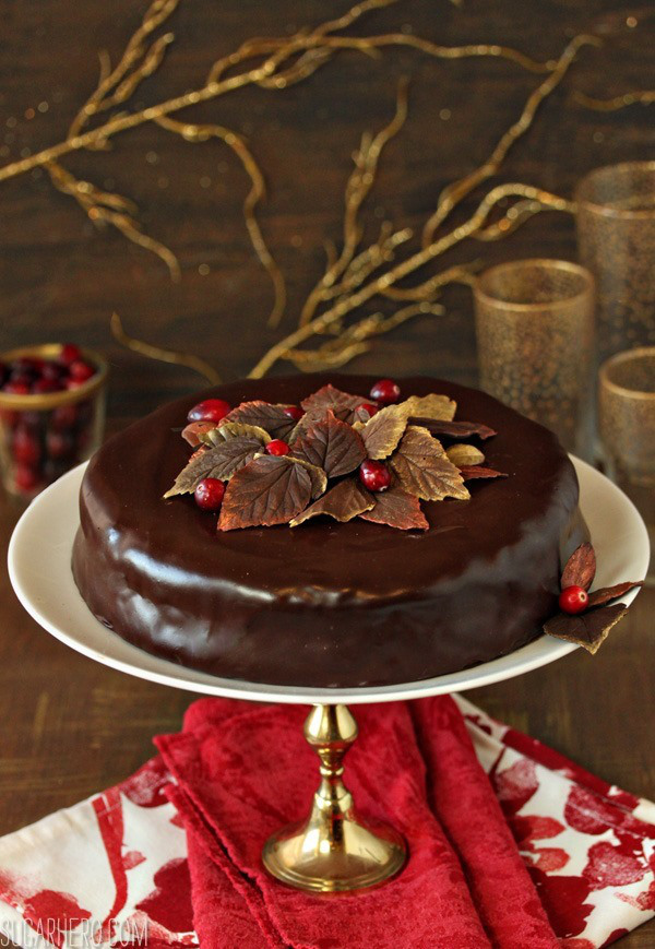 cranberry-chocolate-truffle-cake